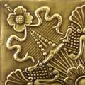 Tin Ceiling Sample Finish: Antique Plated Brass