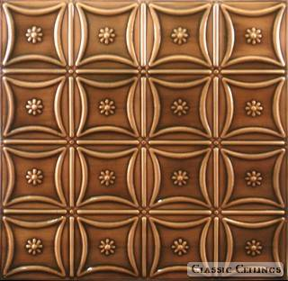 Tin Ceiling Design 200 Antique Plated Copper