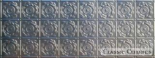 Tin Ceiling Design 208 Backsplash Stainless Steel 1.5x4