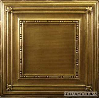 Tin Ceiling Design 504 Antique Plated Brass