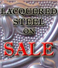 Tin Ceiling Lacquered Steel Sale